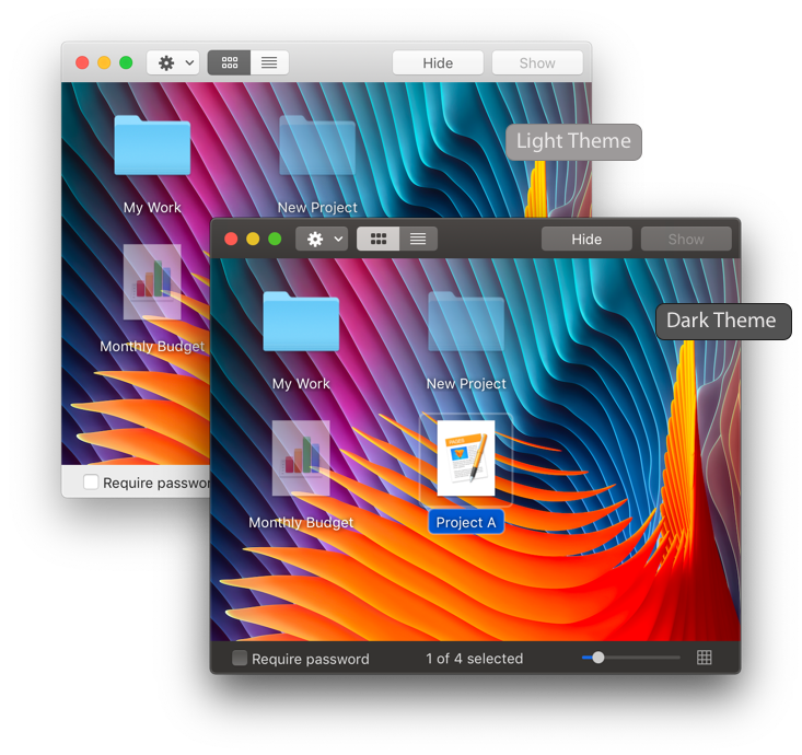 Hide Folders Themes
